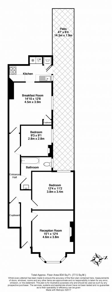 FloorPlan – 16 Blackett Street, Putney, London SW15 1QG