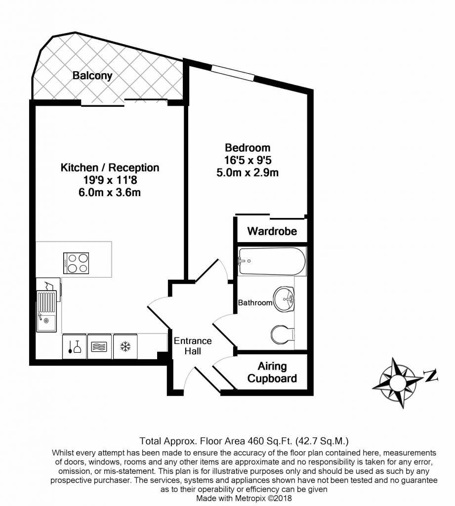 Floor Plan – 55 Vicentia Court, Bridges Court Road, Battersea, London SW11 3GY
