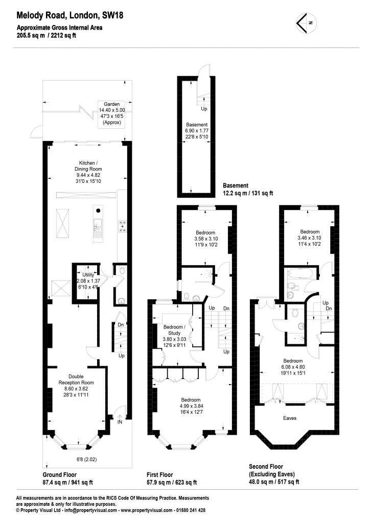 Floor plan – 1 Melody Road, SW18-01
