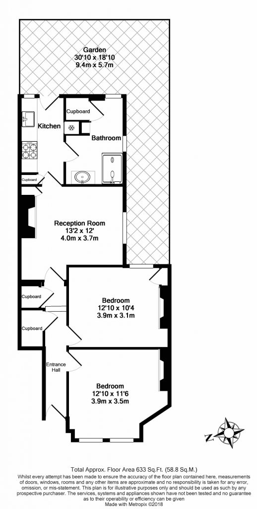 Floor Plan – 65a Emu Road, London SW8 3PQ