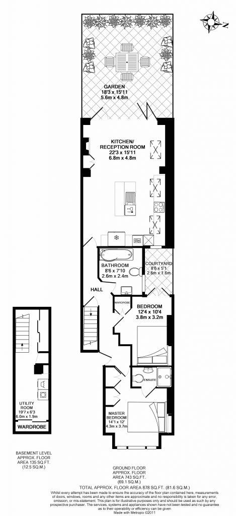 Floor Plan – 97a Altenburg Gardens, Battersea, London SW11 1JQ