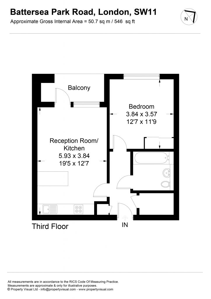 Floor plan – 38 Rutherford House, SW11-01