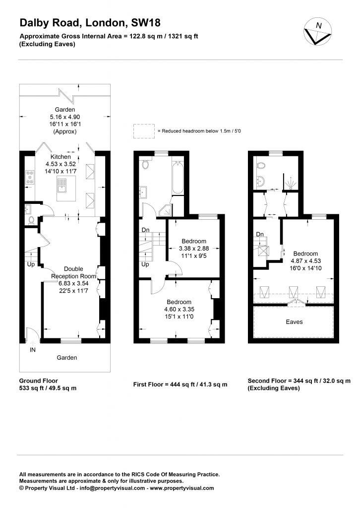 Floor plan – 19 Dalby Road, SW18-01
